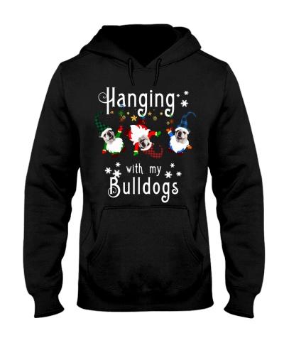 Qhn 3 Hanging With My Bulldog Hoodie