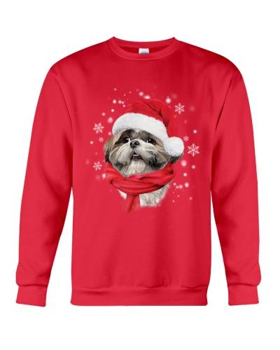 Shih tzu red christmas shirt