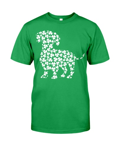 Dachshund Irish Clover Shirt