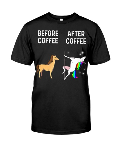 Unicorn before after coffee