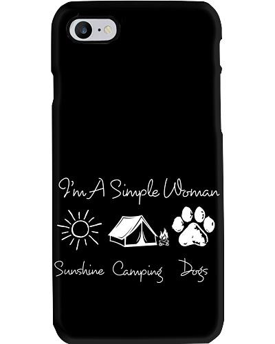 Sn camping and dog