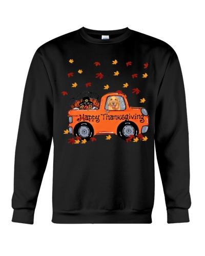 Golden retriever thanksgiving car