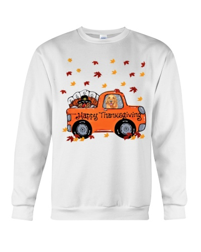 Golden retriever thanksgiving car