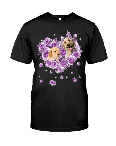 Labradoodle mom purple rose