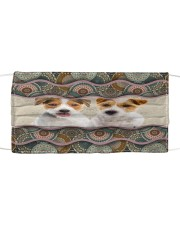 Monica Parson Russell Terrier Cloth face mask front