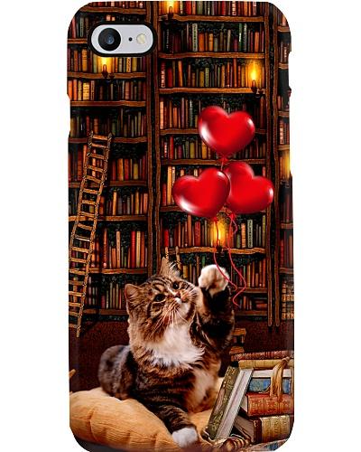 Cat full of books