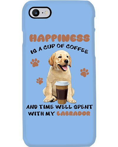 Coffee time well spent Yellow Labrador Retriever