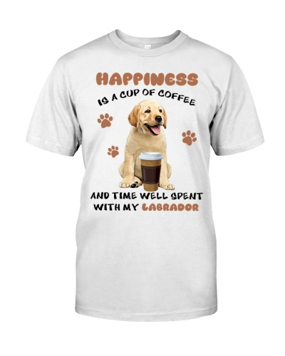 Coffee time well spent Yellow Labrador Retriever