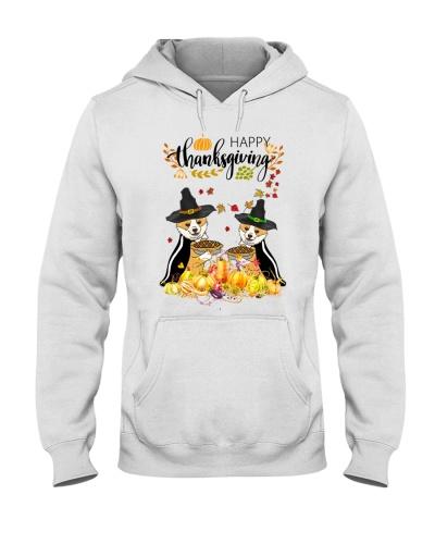Corgi pumpkin pie happy thanksgiving
