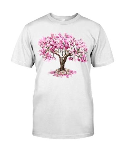 bulldog pink tree