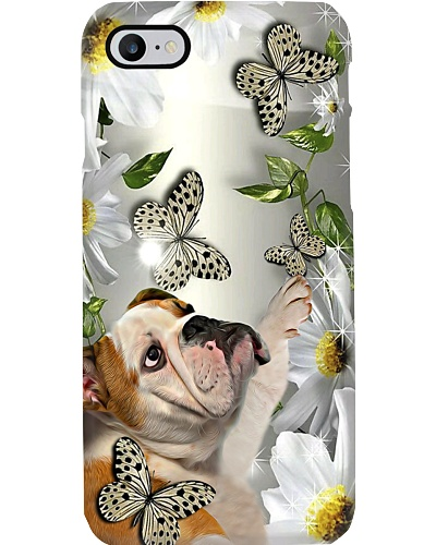 Fn 5 bulldog daisy and butterfly phone case