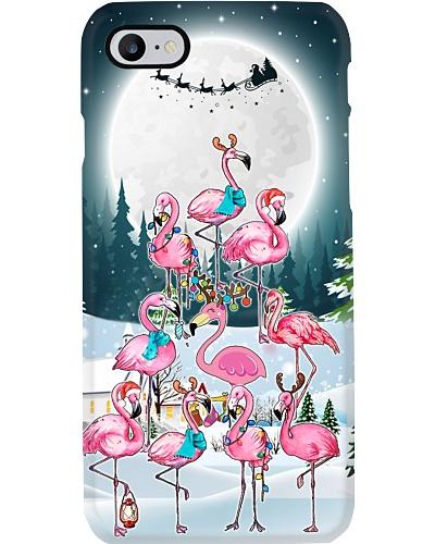 Flamingo moon christmas phone case