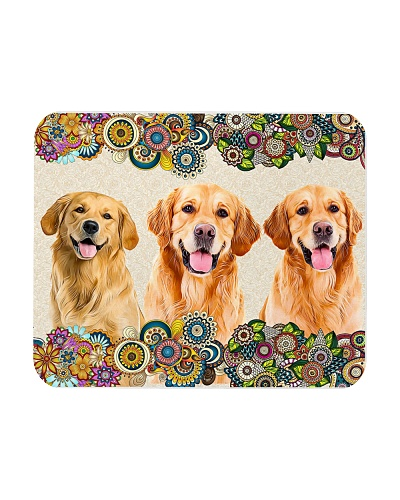 Golden Paisley Mouse Pad