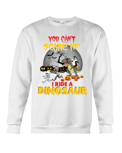Penguin i ride a dinosaur
