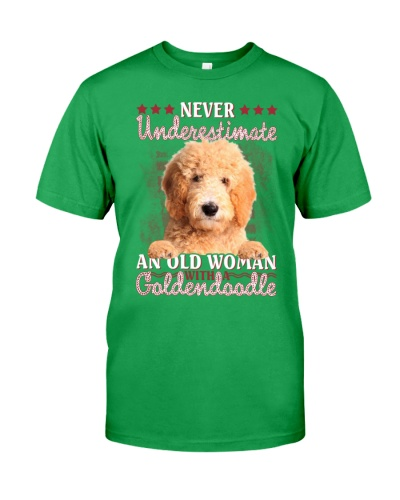 Goldendoodle never underestimate old woman