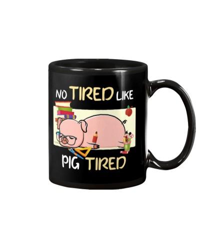 Pig tired mug