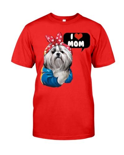 I love mom shih tzu shirt