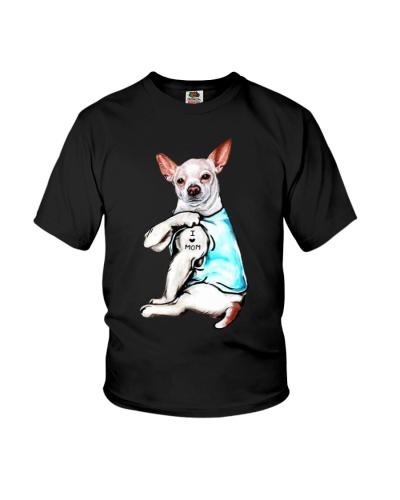Chihuahua i love mom tattoo