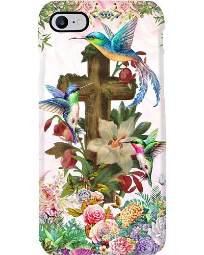 Hummingbird cross phone case