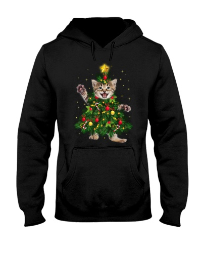Cat funny star christmas tree