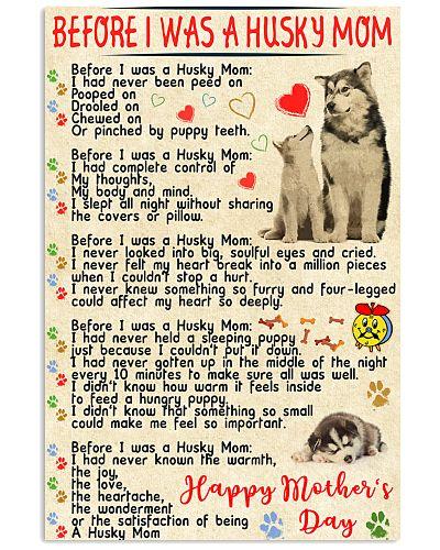 Siberian husky mom poster