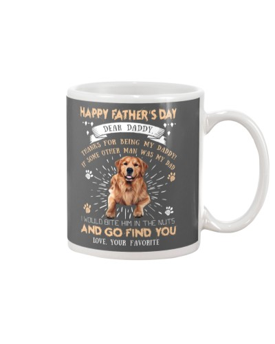 Golden Retriever Dear Daddy