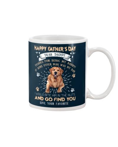 Golden Retriever Dear Daddy