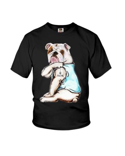 Bulldog i love mom tattoo
