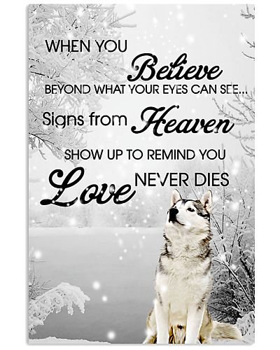 Siberian husky snow poster 2