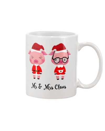Mr And Mrs Claus Christmas Pig Mug