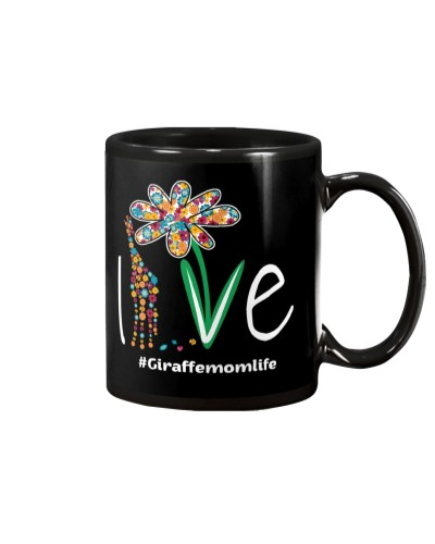 Giraffe mom life mug
