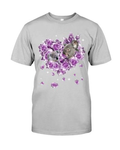 Koalas mom purple rose shirt
