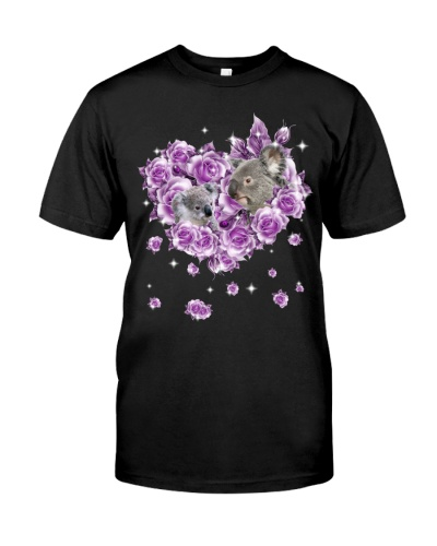Koalas mom purple rose shirt