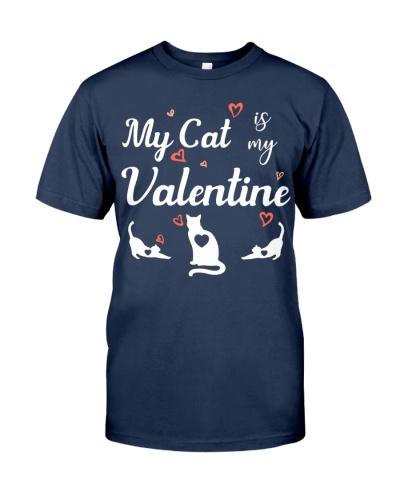 SHN My cat is my Valentine shirt