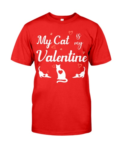 SHN My cat is my Valentine shirt