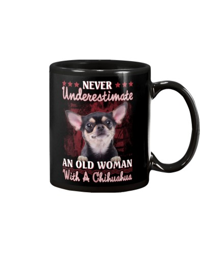 Chihuahua never underestimate old woman