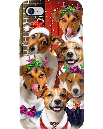 Jack russell terrier hello christmas phone case