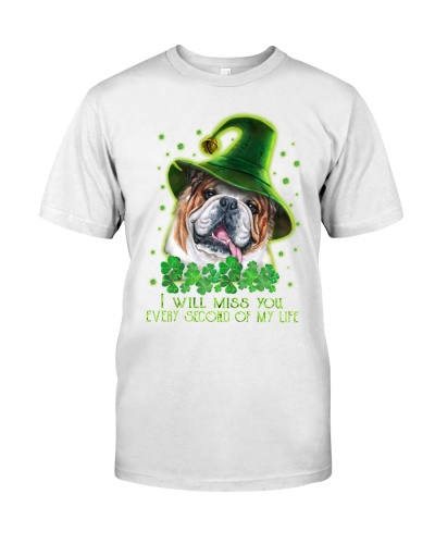 Bulldog misses you on the lucky day shirt