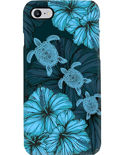 SHN 8 with blue Hibiscus Turtle phone case