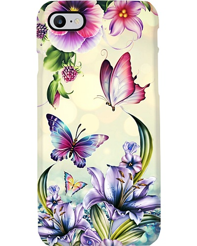 Butterfly gorgeous flowers case