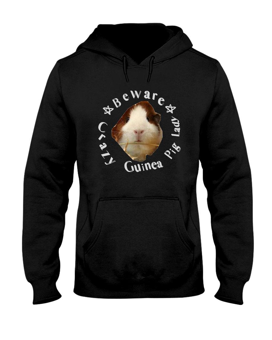 beware crazy guinea pig lady Hooded Sweatshirt