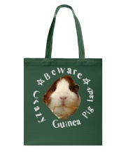 beware crazy guinea pig lady Tote Bag tile