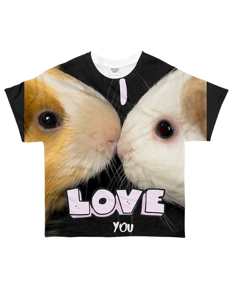 Guinea pig kiss - i love you All-over T-Shirt