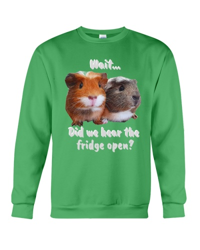 did we hear the fridge open