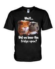did we hear the fridge open V-Neck T-Shirt thumbnail