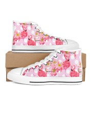 flamingos Women's High Top White Shoes outside-right-inside-right