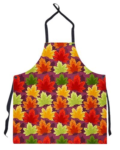 Apron Autumn Floral Seamless Pattern