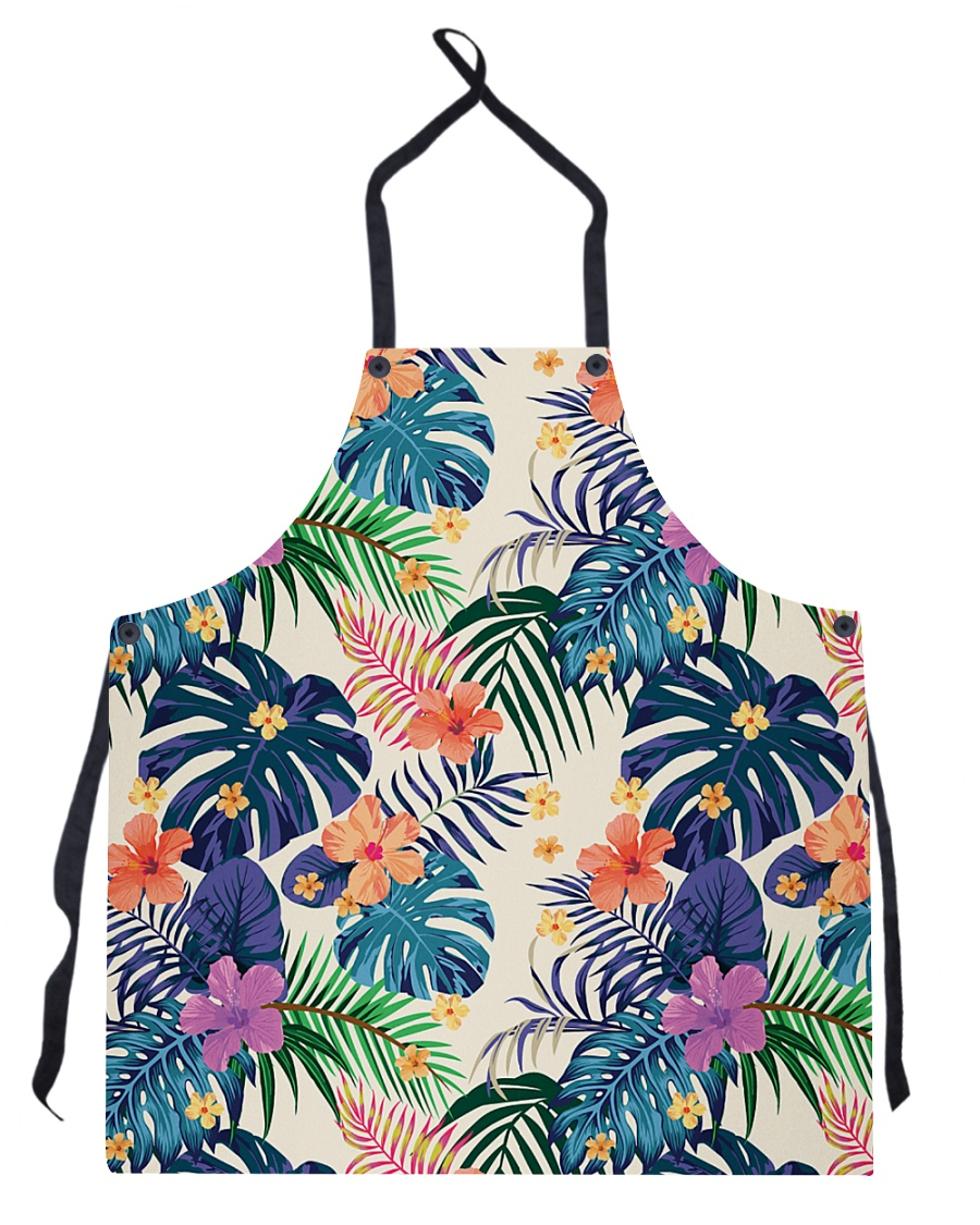 Abstract Color Tropical Pattern Seamless Light Apron