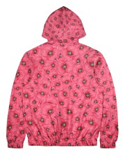 Red Poppies Daisies Men's All Over Print Full Zip Hoodie back