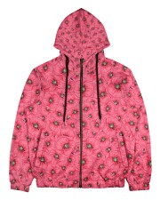 Red Poppies Daisies Men's All Over Print Full Zip Hoodie thumbnail